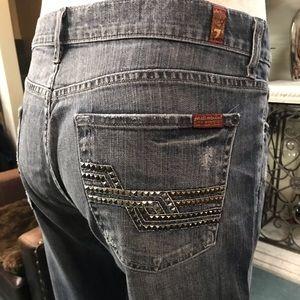 7 Men's jeans bootcut size 36